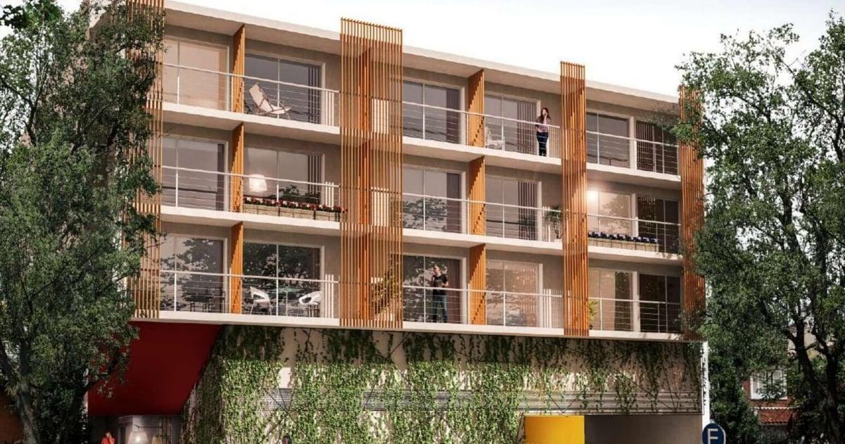 Render de Neo Buxareo, proyecto inmobiliario de la constructora JD ltda