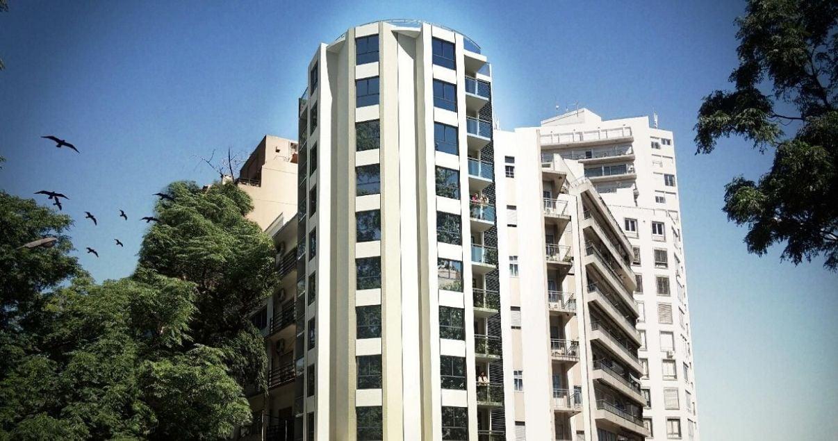 Fachada del edificio Vista Arenas proyecto del estudio de arquitectos Pablo Gejer