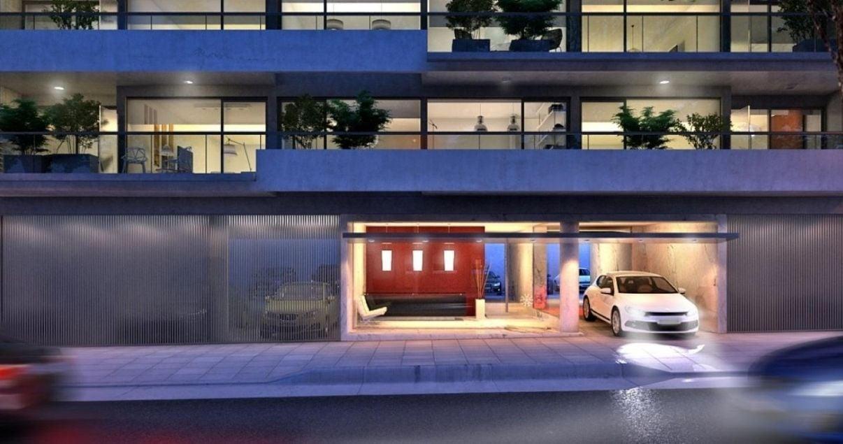 Fachada de Live Soho apartamentos en Montevideo proyecto de UrbanEstate