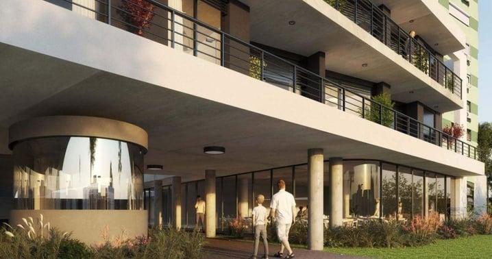 Fachada Ventura Boulevard desarrollo de la promotora inmobiliaria Ventura