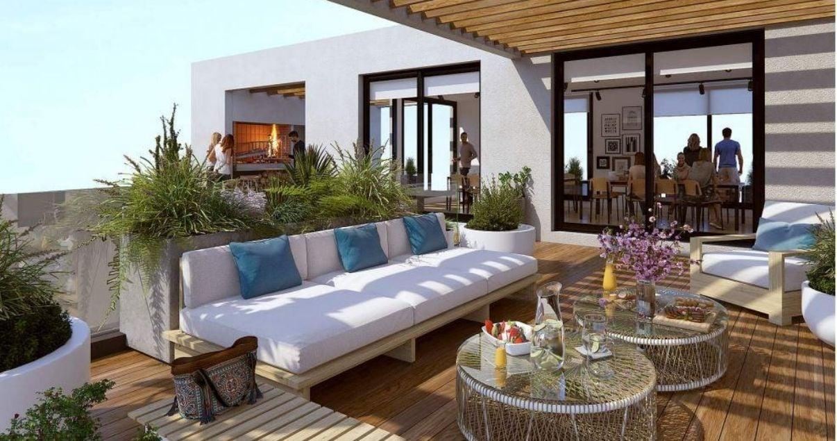 Terraza de Ventura cultural, desarrollo inmobiliario de la promotora Ventura