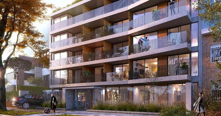 Fachada de Doce_22 diseñada por Raij arquitectos