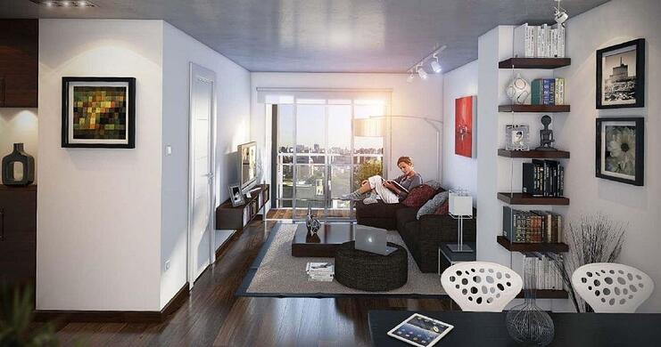 interior de apartamento de Glosker ciudadela, proyecto de la promotora inmobiliaria Glosker S.A.