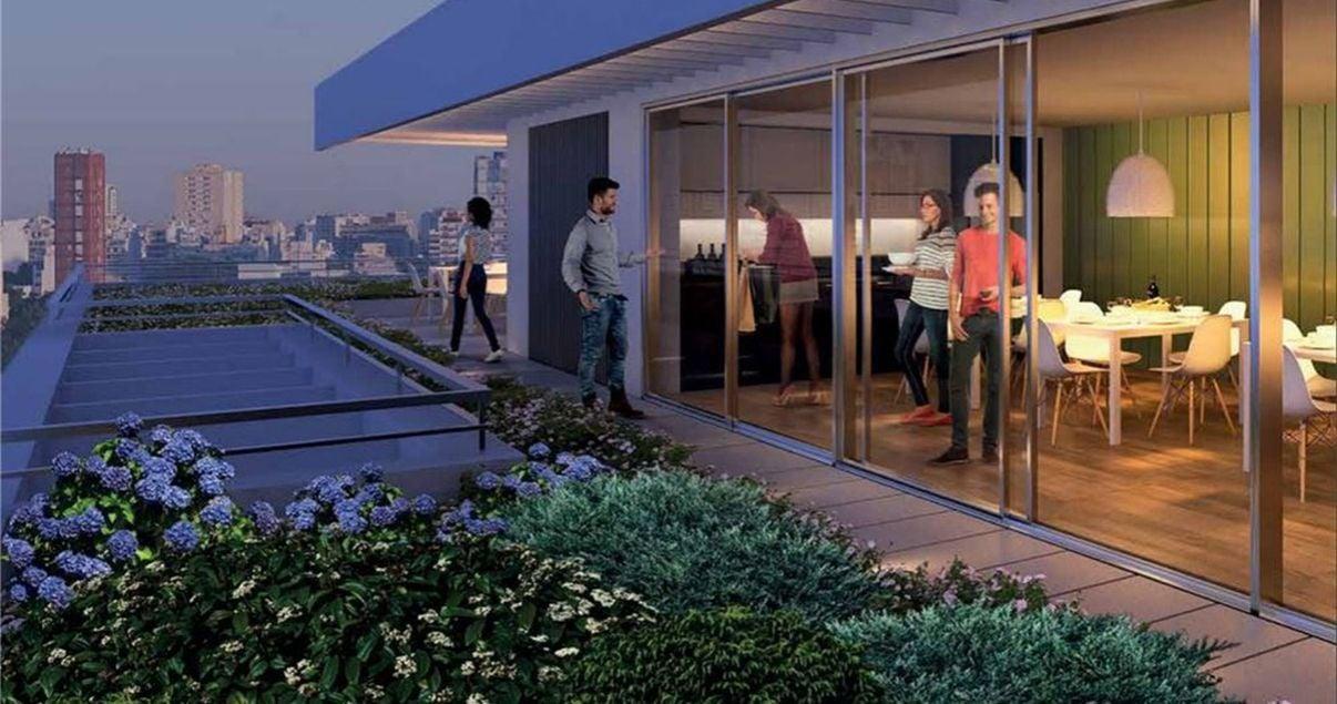 Terraza del edificio 01 Parque Batlle con vista a la ciudad de la desarrolladora inmobiliaria Vitrium Capital