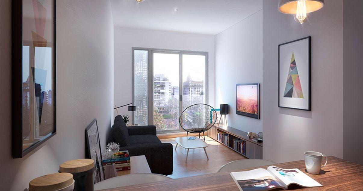 Interior de un moderno apartamento construido por un importante estudio de arquitectos en Uruguay