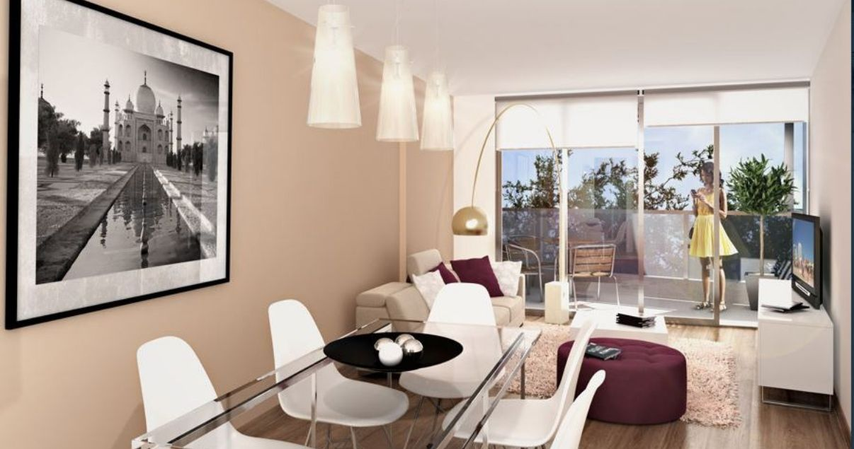 Interior de un apartamento en edificio Gala Trend de la Empresa Constructora Ceaosa
