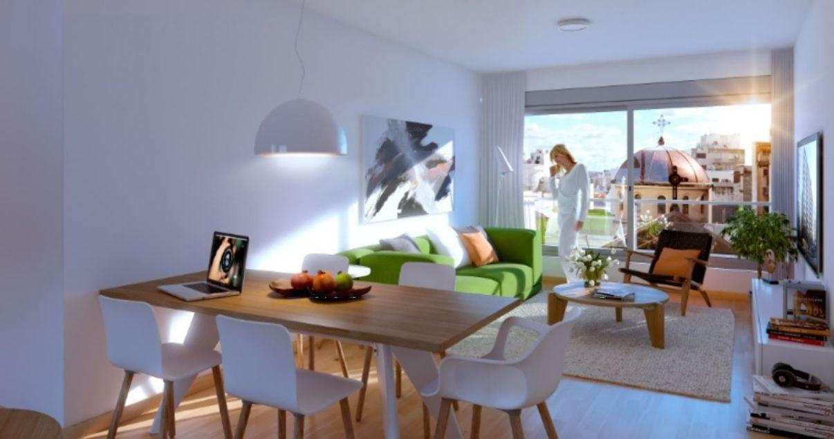 Interior de un apartamento en edificio Nostrum 18 de la Empresa Constructora Ceaosa